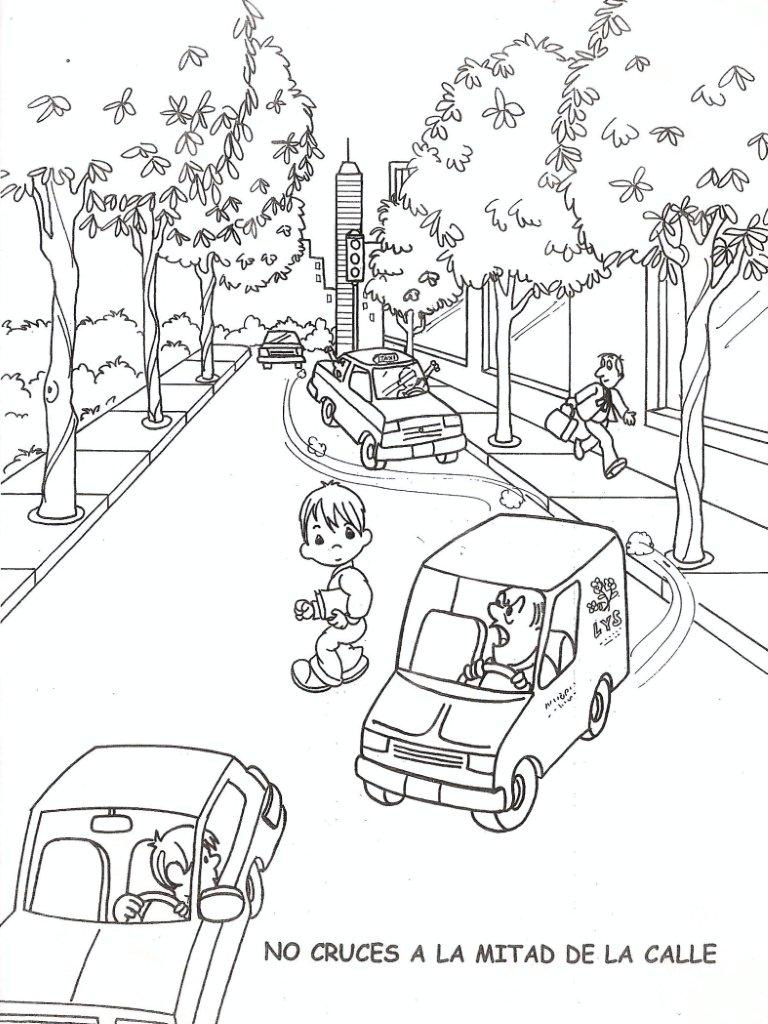 Calles De Dibujos Animados Para Colorear