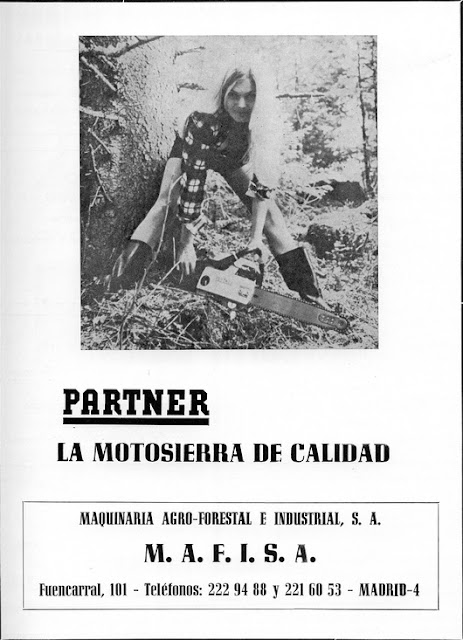 PARTNER R18 FOLLETO PUBLICITARIO - PARTNER R18 ADVERTISING CHAINSAW