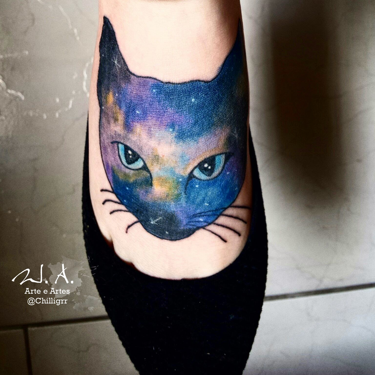 watercolor, watercolor art, watercolor tattoo, tattoo, tatuagem, tatuagem aquarela, painting, pintura, arte, artista, art, curitiba, tatuagem curitiba, estúdio de tatuagem em curitiba, tattoo curitiba, tattoo br, siamese cat tattoo, cat tattoo, siamese cat, gato siamês, desenho de cato, pintura de gato, galaxy tattoo, galaxy cat tattoo, w. albuquerque, chilligrr