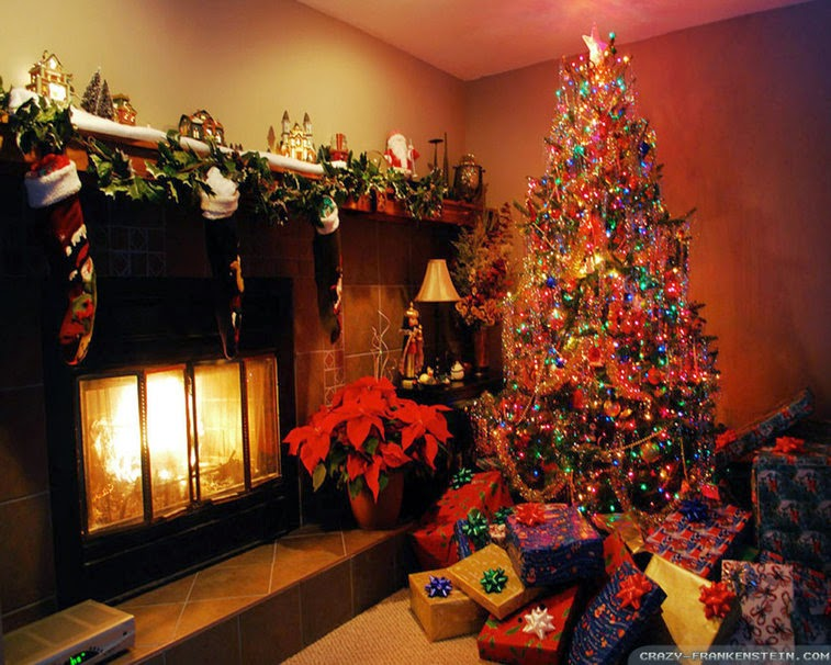 christmas garland for fireplace mantel