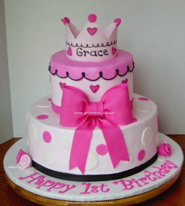 pretty girl birthday cakes