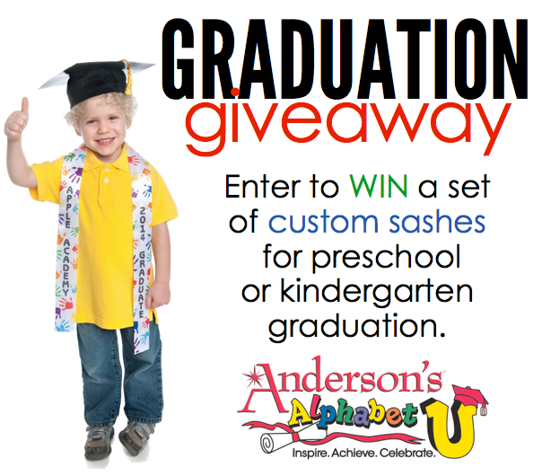 GIVEAWAY! Enter to win a set of custom sashes for preschool or kindergarten graduation!
