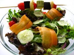 espetinho de verduras