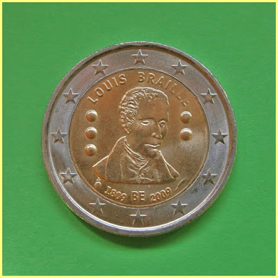 Belgica 2 Euros 2009 Louis Braille