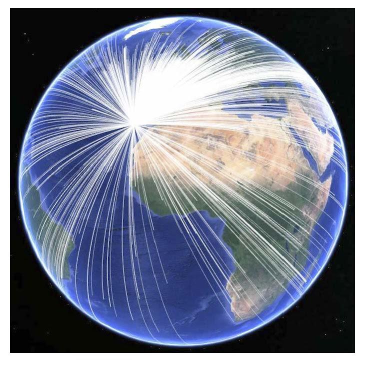 mi LOG (enero'18) en HRD visto en el Google Earth