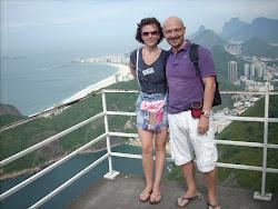 Nicoletta e Alfonso sul Pan di zucchero a Rio de Janeiro