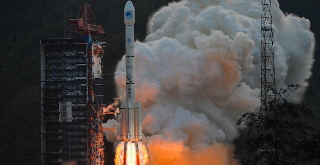 A Long March 3B carrier rocket carrying a new-generation Beidou satellite lifts off from the Xichang Satellite Launch Center in Xichang, southwest China's Sichuan Province, Sept. 29, 2015. Photo Credit: Xinhua/Li Xiang