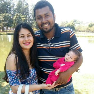 Família, um grande presente de Deus. Douglas S. Nogueira, Sâmela Nogueira e Grazielly Nogueira