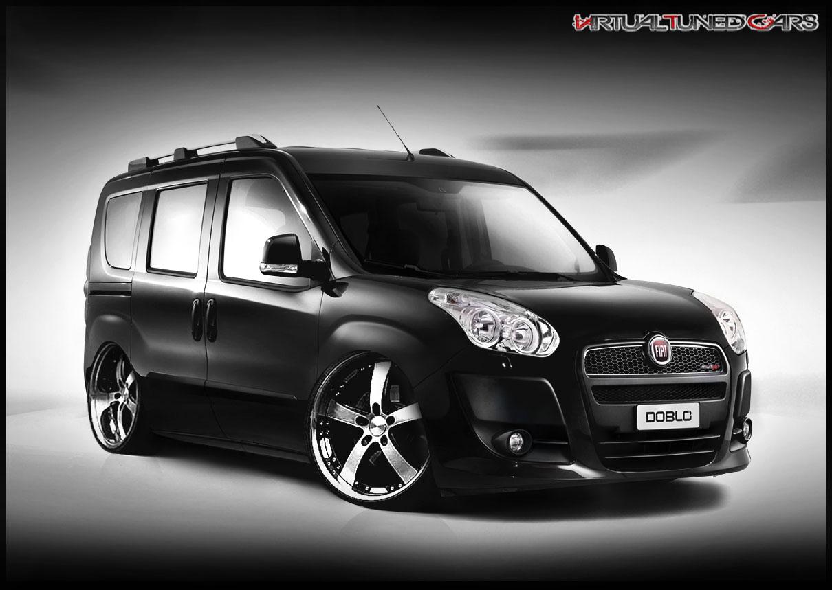 Novo Fiat Doblo 2012 dub, rebaixado + rodas 20