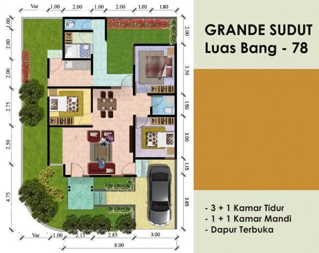 desain rumah minimalis modern type 43 46 55 57 64 72