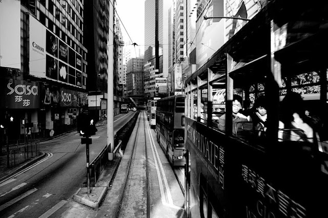 Hong Kong, blanco y negro.