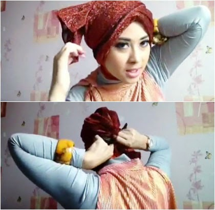 Tutorial Hijab Turban Simple untuk Pesta Pernikahan dan Formal