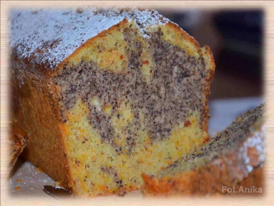 Domowa kuchnia Aniki Babka marmurkowa migdałowo  makowa -> Kuchnia Szeroko Otwarta Babka Marmurkowa