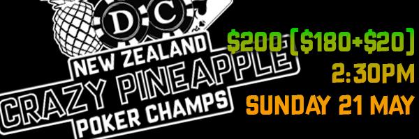 NZ CRAZY PINEAPPLE POKER CHAMPS