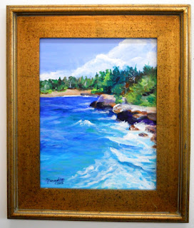 Mahaulepu Beach Original Acrylic Painting