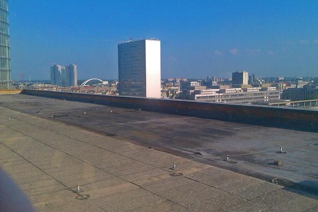 Slovak / radio / interior / view / rooftop/ Bratislava /  pyramid