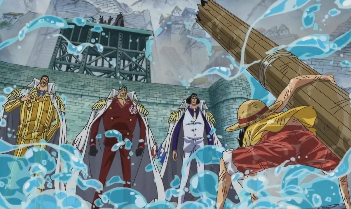 El juego de las imagenes Luffy+vs+Almirantes