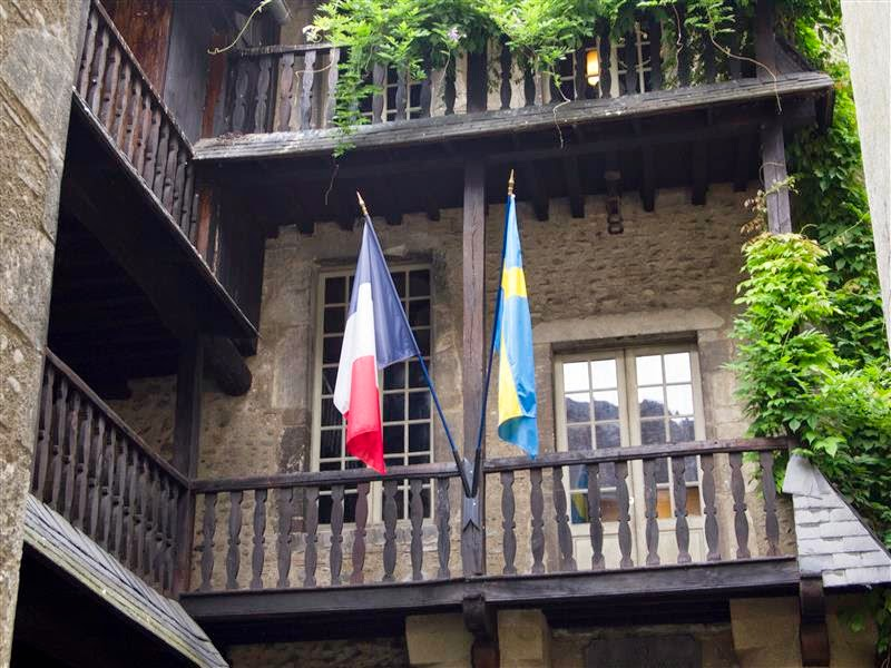 Banderas Francia y Suecia