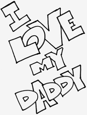 I Love You Dad Coloring Pages For Kids