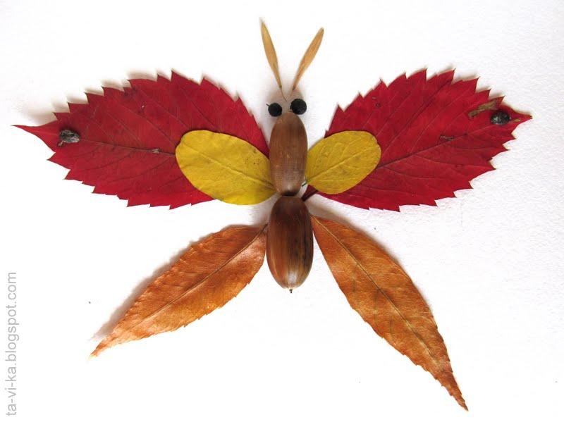 Бабочки из осенних листьев своими руками - Биметалл Плюс