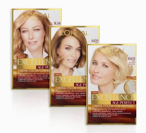 tinte L'Oréal Paris Excellence Age Perfect cabellos maduros con canas