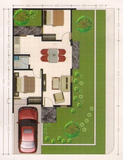 rumahku 1 desain denah rumah minimalis type 54 150