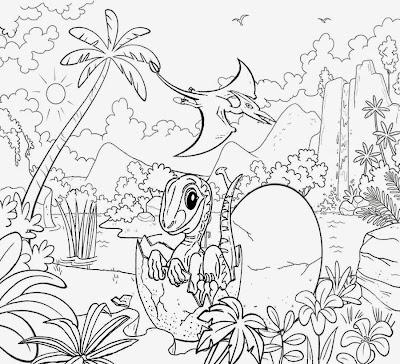 Jurassic Park Dinosaur Coloring Drawings