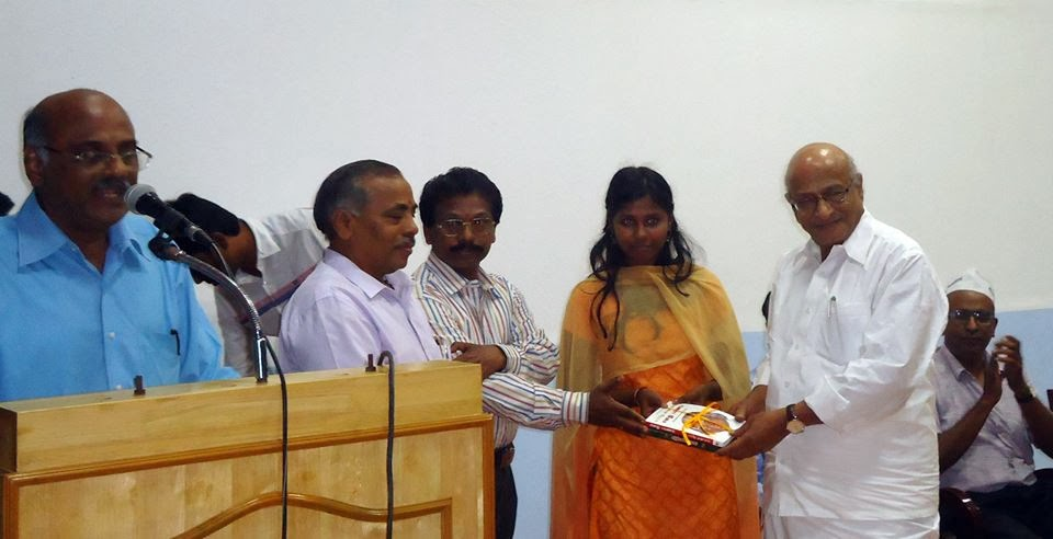(L to R) Prime Point Srinivasan, P Subbaramanian, Arumugam,  Divya and T K Rangarajan MP