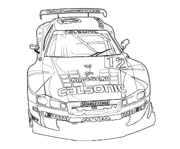 #3 Fast and Furious Coloring Page