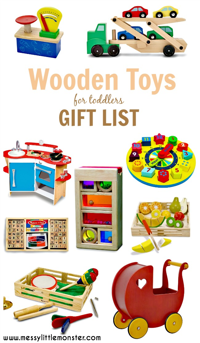 Wooden toys christmas gift list ideas for toddlers, preschoolers, girls, boys