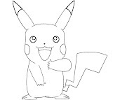 #6 Pikachu Coloring Page