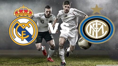 Prediksi Skor Terjitu Real Madrid vs Inter Milan jadwal 27 Juli 2014