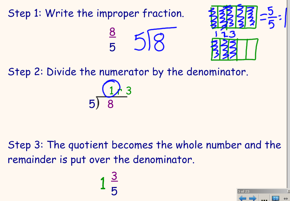 Converting Improper Fractions To Mixed Numbers Worksheet – Converting Improper Fractions Worksheet