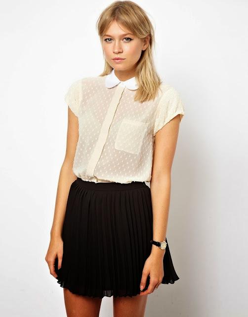 dotty blouse white