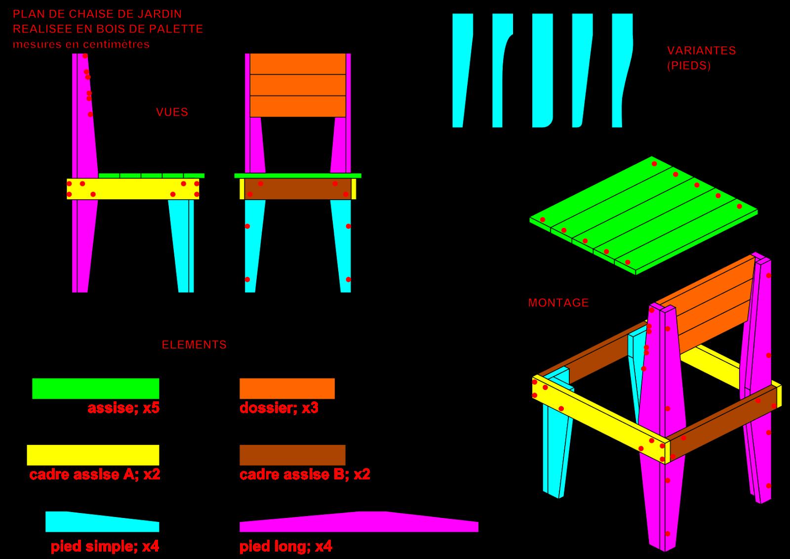 Chaise en palette plan - Plan de chaise adirondack gratuit ...