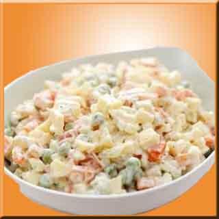 Rus salatası  rus yemeği rus salat  patates mayonez
