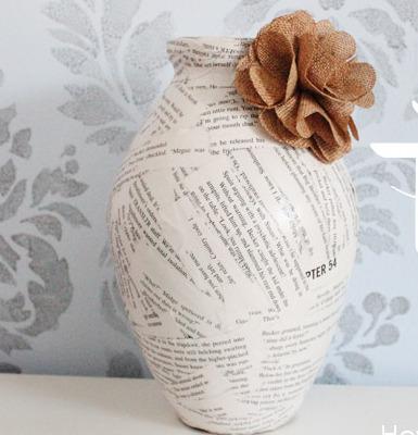 Como hacer florero con flor para el dia de la madre - Como hacer jarrones de papel ...