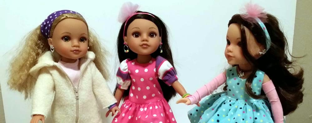 Lauryce, Consuelo, and Dell Heart4Heart dolls in CelenaLei