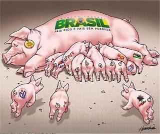 Governado por porcos.
