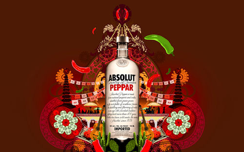 Vodka Absolut (arte que embriaga y divierte)