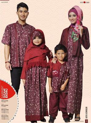 Baju keluarga kembaran untuk lebaran