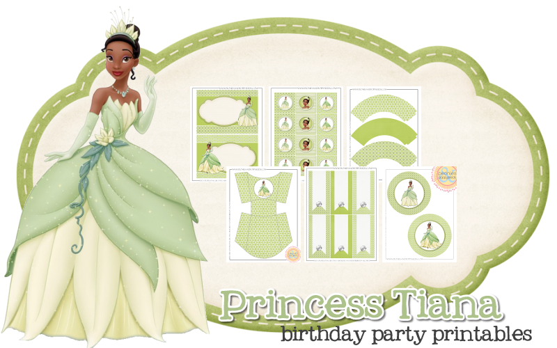 Princess Tiana Is Our Of The Day This Printable Party Set Includes