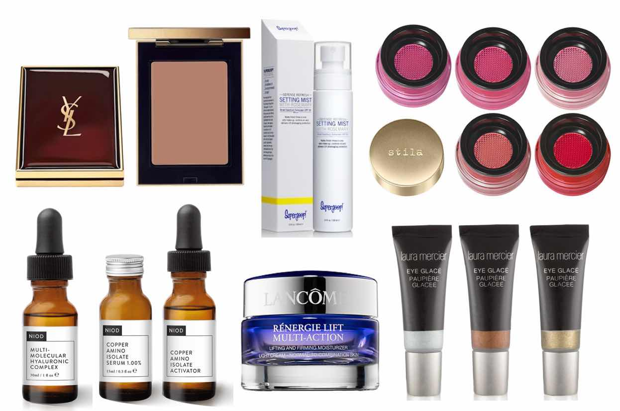 New-Makeup-and-skincare-for-Summer-2015-YSL-LE-TEINT-SAHARIENNE-BLUR-PERFECTOR-&-NIOD-COPPER-AMINO-ISOLATE-SERUM-&-MULTI--MOLECULAR-HYALURONIC-COMPLEX-&-Supergoop-Defense-Refresh-Setting-Mist-SPF-50-&-Laura-Mercier-Eye-Glace-&-Lancome-Renergie-Lift-Mulit-Action-&-Stila-Aqua-Glow-Watercolor-Blush
