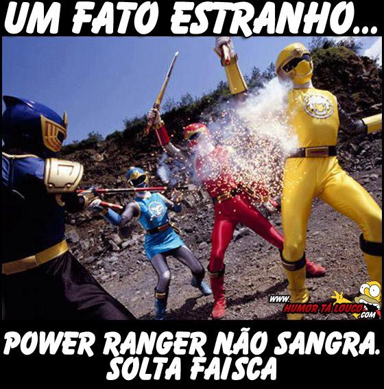Um fato estranho sobre os Power Rangers - Sangue ao invés de faisca