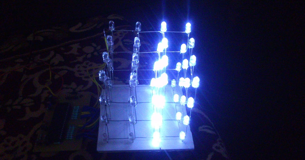 make diagram 4x4x4 led cube arduino led cube
