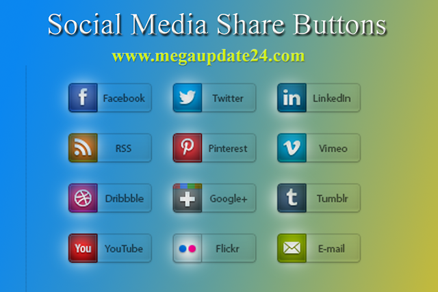 social media buttons, social share button, shocial share for blogger blog post