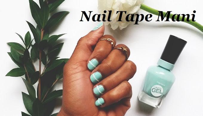 negative space nail tape manicure