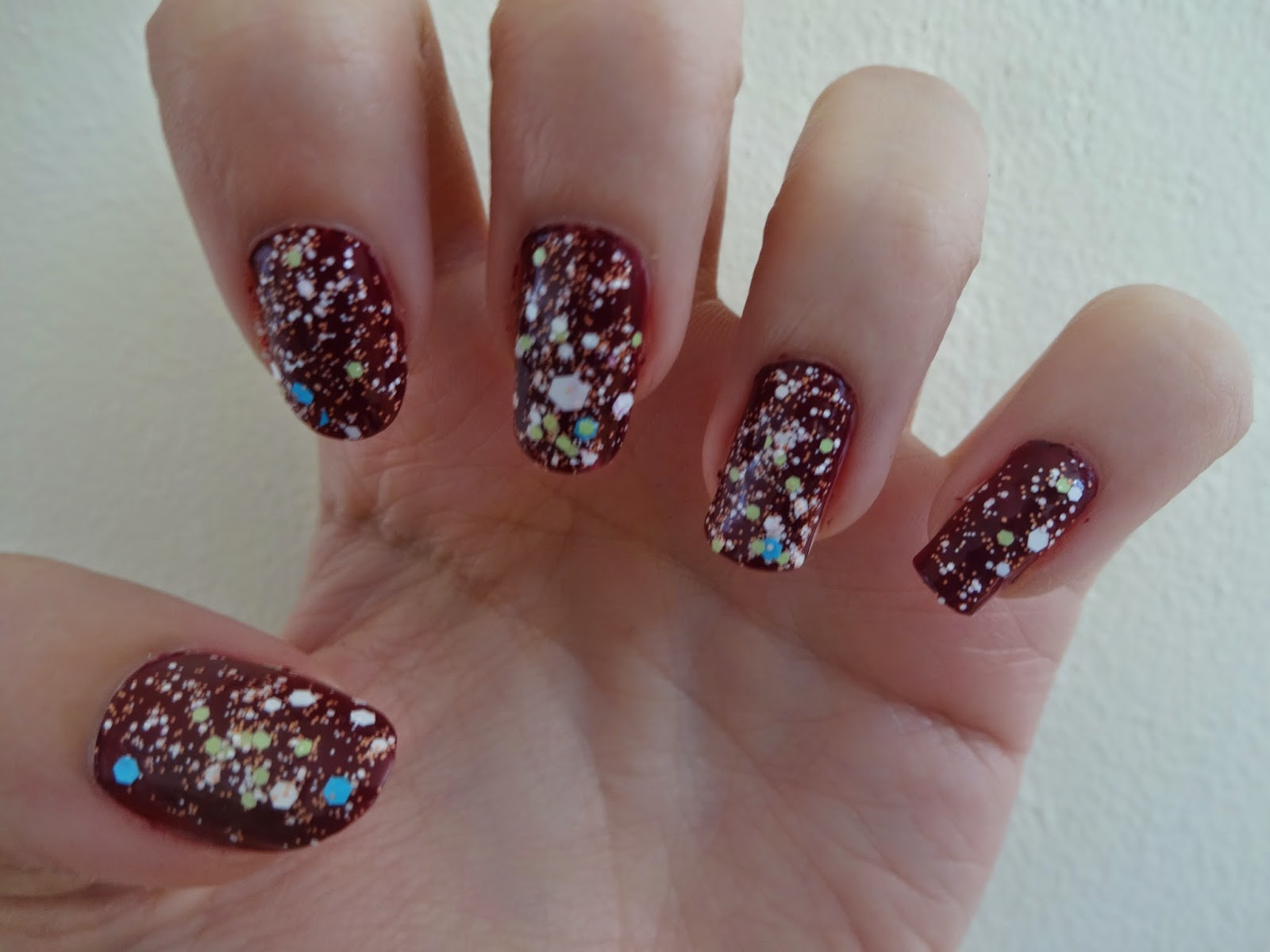 NOTD: Speckled Nails