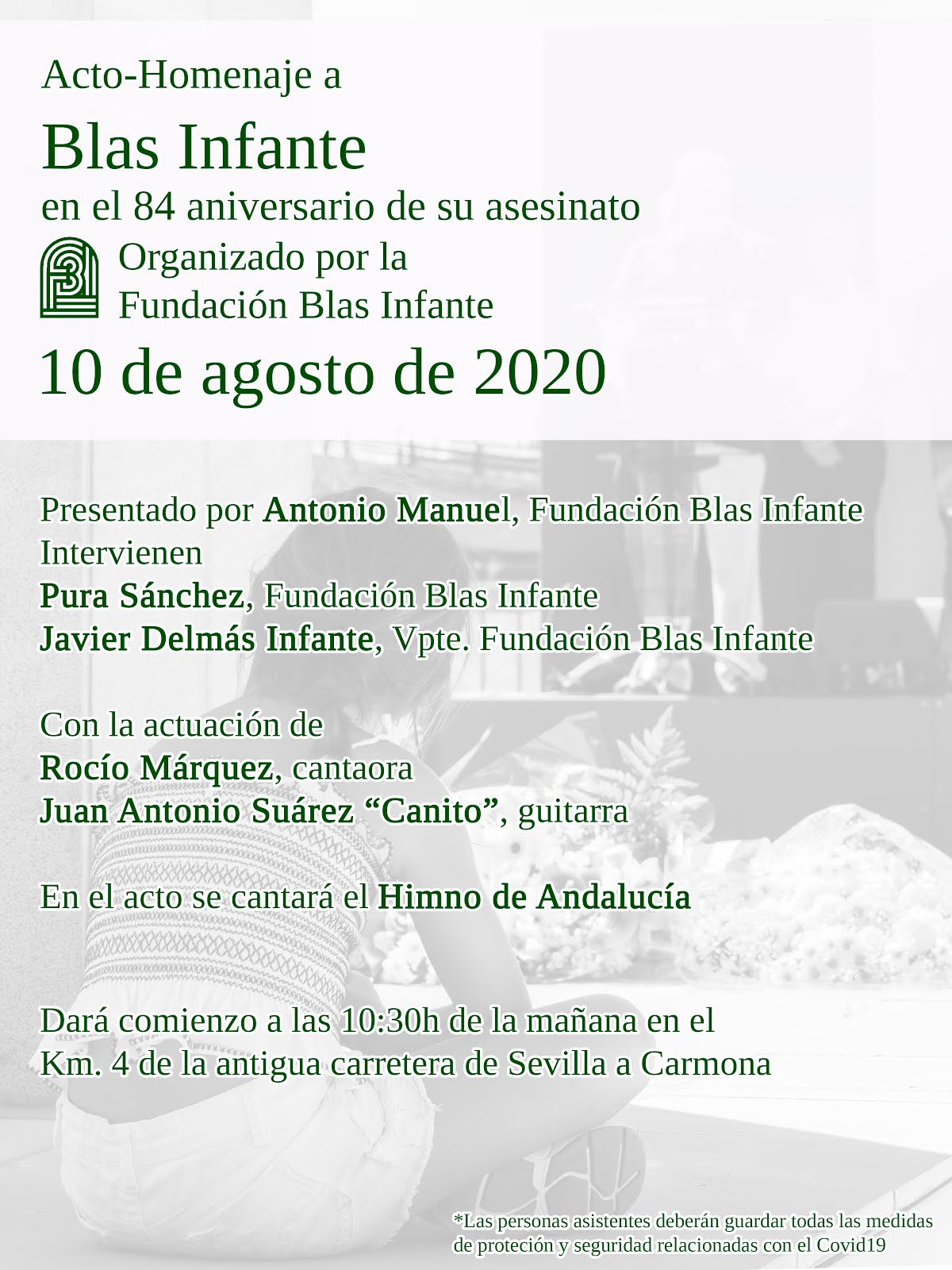 ACTO-HOMENAJE A BLAS INFANTE EN EL 84 ANIVERSARIO DE SU ASESINATO