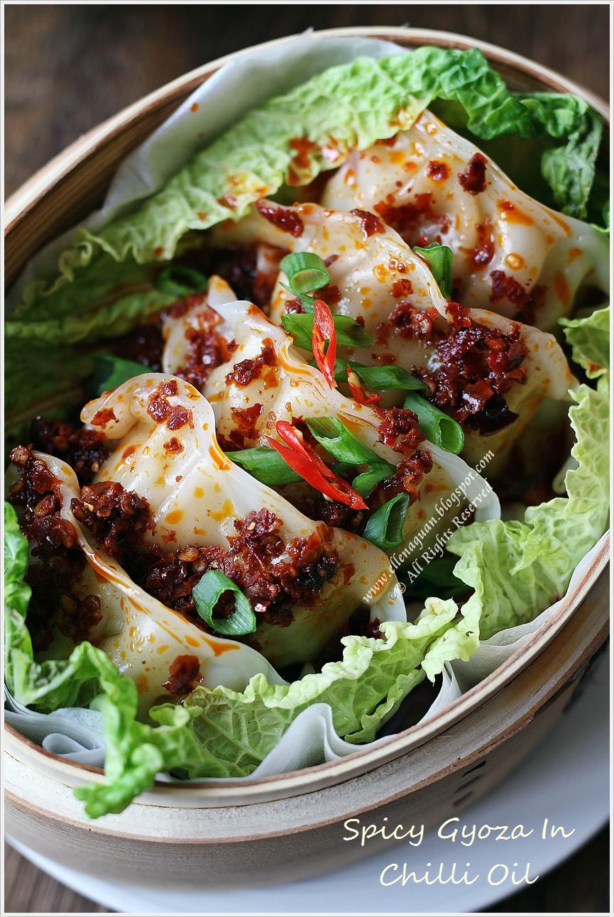Spicy gyoza in chilli oil recipe recipes spicy gyoza in chilli oil forumfinder Choice Image